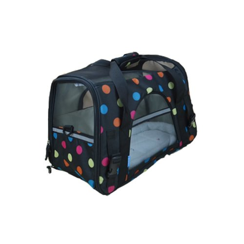 Pet Carrier Soft Sided Travel Bag for Small dogs & cats- Airline Approved, Wave point
