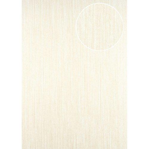 ATLAS CLA-596-5 Unicolour wallpaper subtly glittering cream gold 5.33 sqm