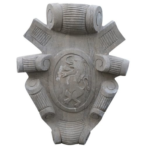 Stone Made Coat Of Arms W52xdp12xh65 Cm Sized