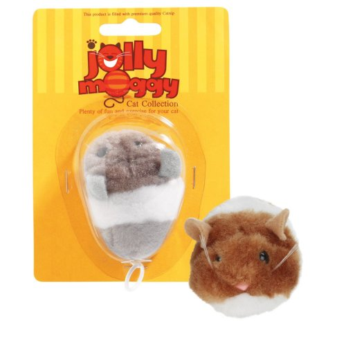 Jolly Moggy Vibro Mouse Assorted (Pack of 3)