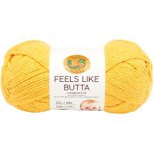 Lion Brand Feels Like Butta Yarn-Yellow