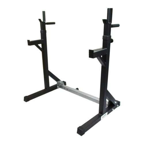 Komodo Adjustable Squat Rack with Dip Bars Weight/Power Lifting/Barbell Stand