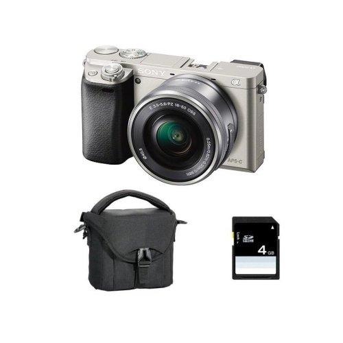 SONY A6000 SEL 16-50MM F3.5-5.6 OSS Silver + Bag + 16GB SD card