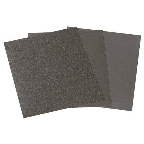 Wolfcraft 3119000 230 x 280mm Wet and Dry Sand Paper 280/400/600/1000 Grain Grit (Pack of 16)