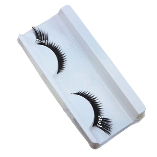 3 PCS Long Eye Tail Eyelashes Bow Tie Rhinestone Stage or Party False Eyelashes