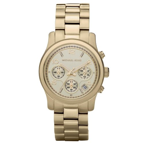 Michael Kors Runway Champagne Chronograph Designer Ladies Watch MK5055