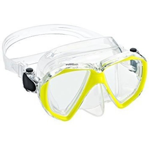 Phantom Aquatics Velocity Scuba Snorkeling Dive Mask Yellow