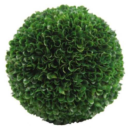 Admired By Nature ABN5P014-GRN 7.25 in. Faux Preserved Artificial Boxwood Ball Topiary Plant, Green