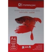 Mirror A4 220gsm Double Sided High Gloss / Glossy Photo Paper