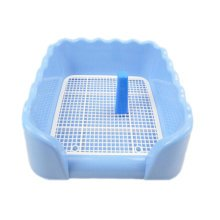 Dog Toilet Puppy Dog Pet Potty Patch Training Pad Pet Supplies 43 X 43 CM Blue