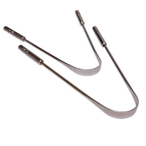 Surgical Grade Set of 2 Stainless Steel Tongue Cleaner   Stainless Steel Tongue Scraper