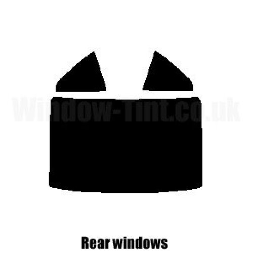 Pre cut window tint - Mercedes SLK Class Convertible - 2004 to 2007 - Rear windows