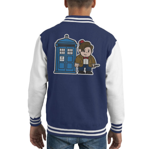 Mitesized Doctor Who 11th Matt Smith Tardis Kid's Varsity Jacket