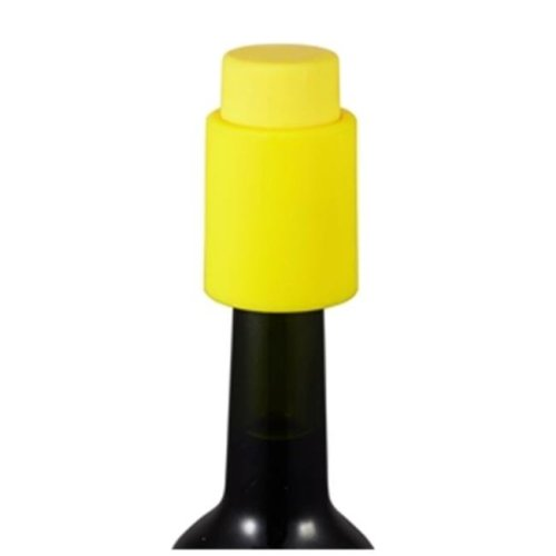 Visol VAC380YL Vacustopper Yellow Rubberized Wine Stopper Pump