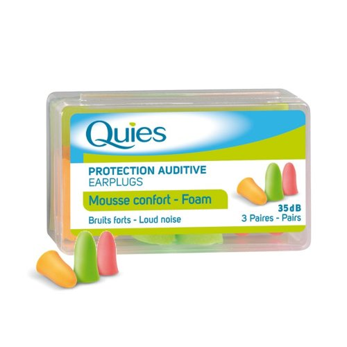 Quies Foam Earplugs 3 Pairs
