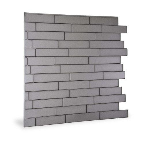 Profhome 3D 705257 Piano Steps Smoked Gray Decor panel 3D shiny grey 2 m2