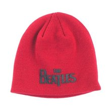 Woodbrass Club Beanie Beatles Design: Logo - One Size Caps & Beanies -  beatles red black cotton beanie hat drop band logo john lennon official