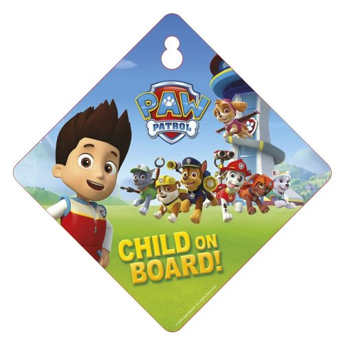 Paw Patrol Child On Board Car Window Sign Safety & Awareness Skye Marshall & More