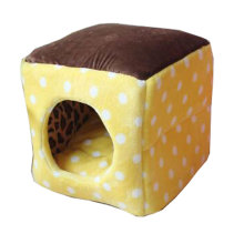 Four Seasons Universal Small-scale Pet House Cat Cave Cat Mat [Yellow] [G]