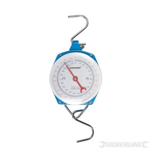 100kg Silverline Heavy Duty Hanging Scales - 251073 -  scales hanging silverline heavy duty 100kg 251073