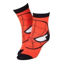 MARVEL COMICS Adult Spider-Man Red Mask Close-up Crew Socks 43/46 - Red/Black