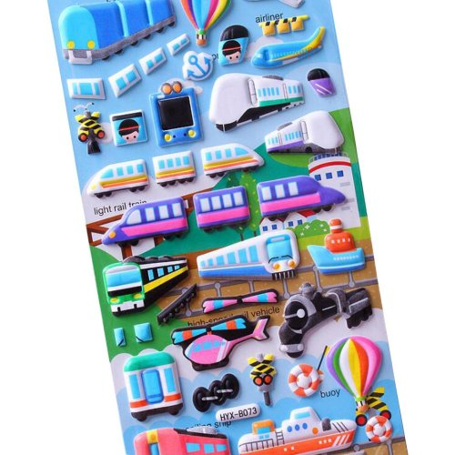 [Multicolor-1]5 Sheets Funny Cartoon Stickers Children Decorative Toys