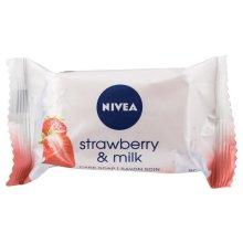 12 x NIVEA Strawberry & Milk Care Soap 90g Each