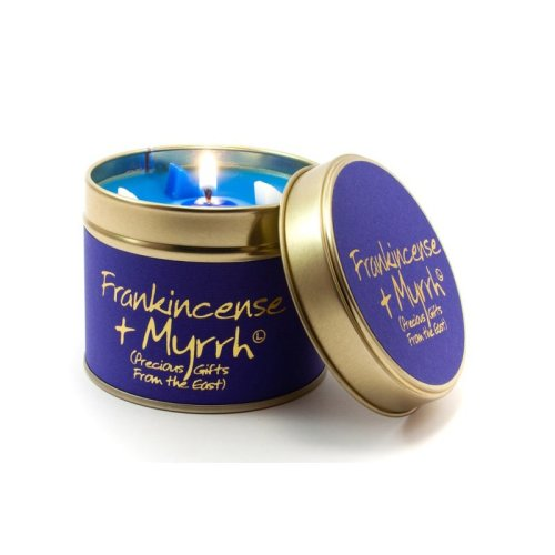 Lily Flame Candle in a Tin - Frankincense & Myrrh