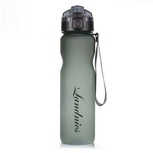 Landnics Sports Water Bottle, Leakproof Water Bottle BPA Free & Eco-Friendly Tritan Plastic Drinking Bottle with Time Markings, Perfect for...