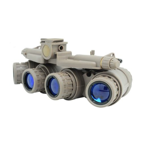 Airsoft Dummy Quad Night Vision Goggles Tan Sand De Brown Gpnvg 18 Uk