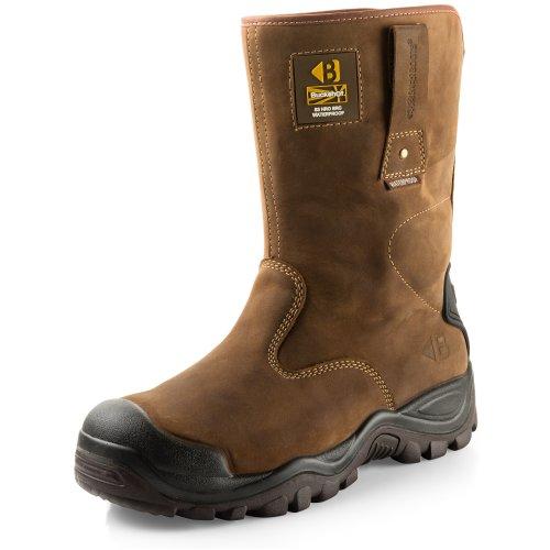 Buckler BSH010BR Waterproof Safety Rigger Work Boots Dark Brown (Sizes 6-13)