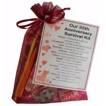 35th Anniversary Survival Kit Gift - Great novelty present for thirty fifth anniversary or wedding anniversary for husband, wife
