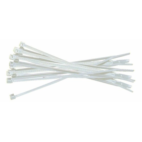 100mm White Cable Ties - Average quantity 100 per bag