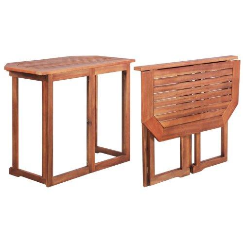 vidaXL Balcony Table Solid Acacia Wood 90x50x75 cm