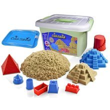 "CoolSand Deluxe Bucket Kinetic Play Sand With Inflatable Sandbox "" Castle Set Edition"