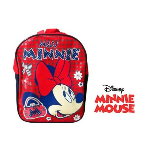 Clearance Disney Minnie Mouse Miss Minnie Backpack For Kids - Red
