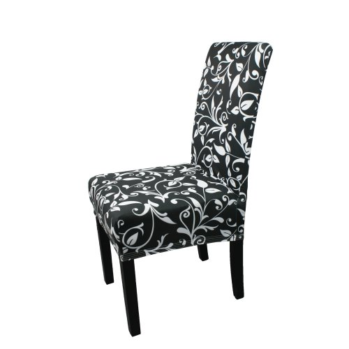 Trimming Shop Short Spandex Chair Cover with Floral Design Stretchable and Elasticated Removable Protective Slipcover