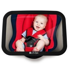 Baby Back Seat Mirror - Shatterproof Car Mirror to see Child/Infant in Baby Seat