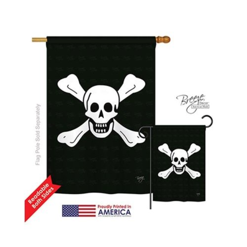 Pirate Richard Worley 2-Sided Vertical Impression House Flag - 28 x 40 in.