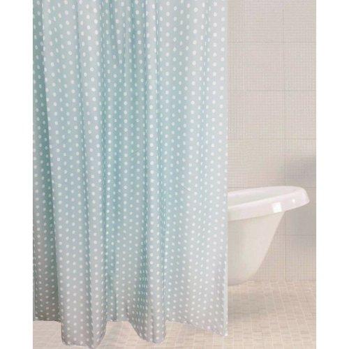 Sabichi Green Polka Dot Polyester Shower Curtain 180 X 180cm Including Hooks