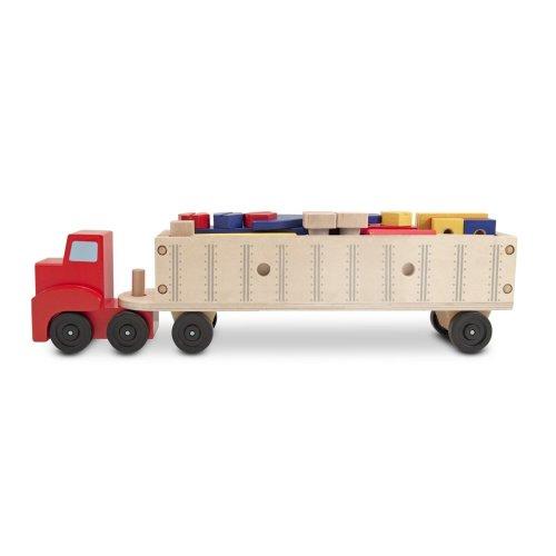 Melissa & Doug Big Rig Truck Wooden Building Set (22 pcs)