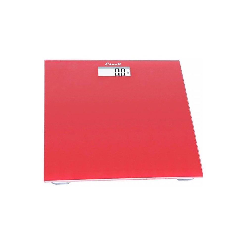 3ade2ff80af8 Escali Digital Sales B200RR Glass Platform Bathroom Scale, Rio Red, 440 Lb  - 180 Kg