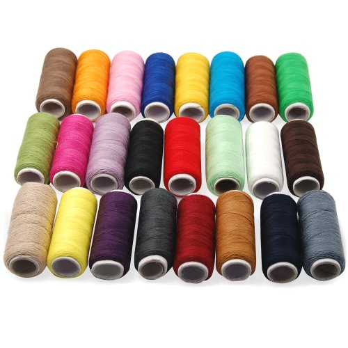 Trixes 24 x Assorted Colours Cotton Thread Sewing Reels