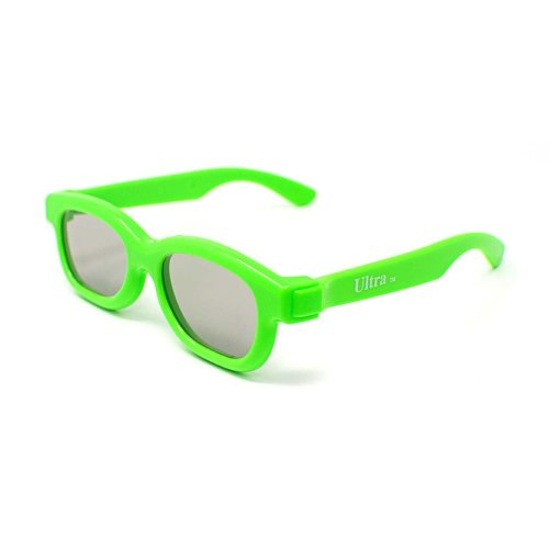 Ultra 1 to 5 Pairs of Light Green Childrens Passive 3D Glasses for Kids Polorized Eyewear Universal for Passive Cinema and Projectors Such as RealD Toshiba LG Panasonic Sony TVs