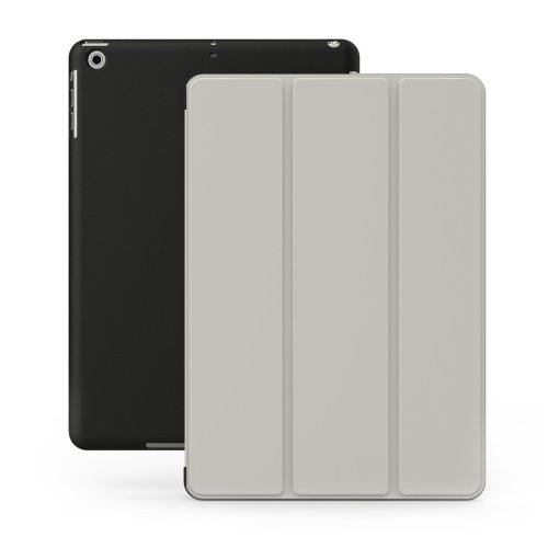 dbbd0dea6f67 KHOMO Dual Case Ultra Slim with Stand and Magnetic Smart Cover for Apple  iPad Air - Grey Black on OnBuy