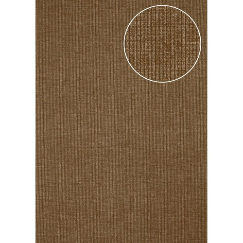 Atlas COL-562-3 Textured wallpaper shimmering terra-brown silver 5.33 sqm