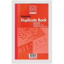 Silvine Duplicate Invoice Book Feint 200 Sheets Large - Pack Of 6 -  silvine duplicate book 611 invoice pack 210x127mm 83x5 inches