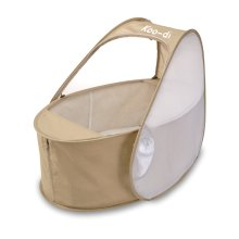 Koo-di Pop Up Travel Cot Baby Bassinette - Cafe Creme