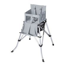 One2Stay P71846-H Portable Baby High Chair - Silver Metallic