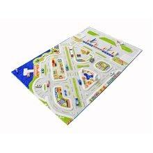Little Helper 3D Childrens Play Rug in Mini City Design, 100 x 150 cm